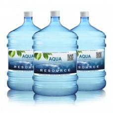 """Доставка питьевой воды. Заказ чистой бутилированной  питьевой воды """"AQUA RESOURCES"""" 18,9 л."""